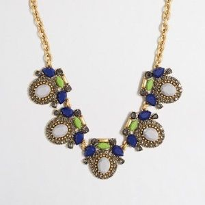 J.CREW Framed stones necklace